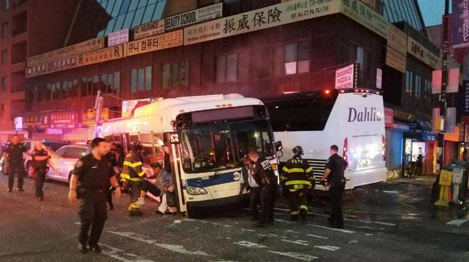 At Least One Dead When MTA, Coach Buses Collide in NY
