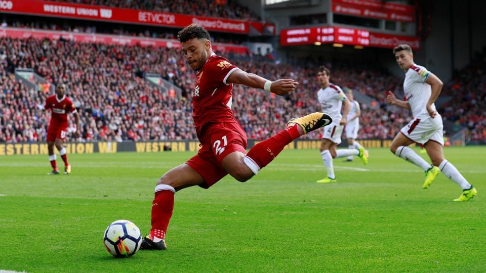 Liverpool F.C.'s Alex Oxlade-Chamberlain in action vs Burnley. Manager Jurgen Klopp has reassured the England international that Anfield is the place for him.