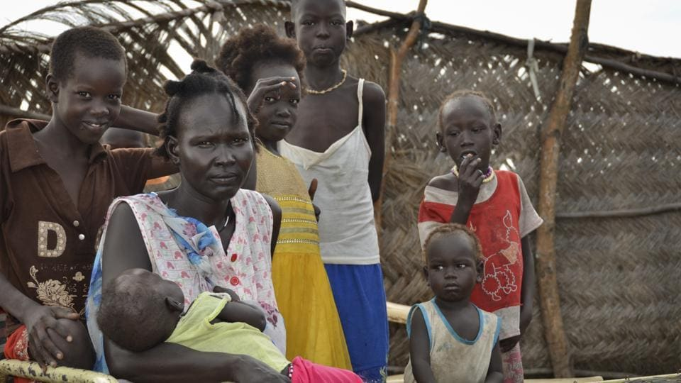 A displaced persons' camp in Abayok, South Sudan Sunday, Aug. 20, 2017.