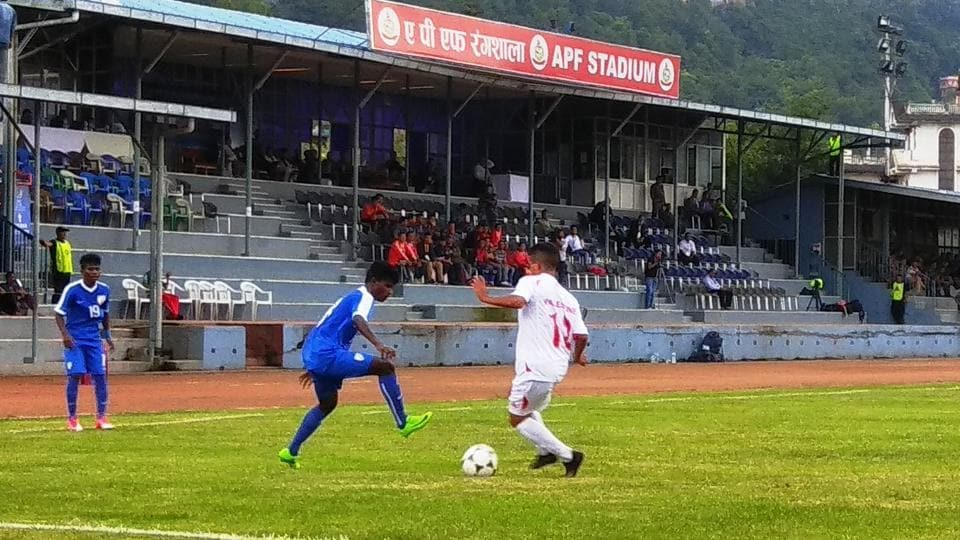 India defeated Palestine 3-0 in the AFC U-16 Championship Qualifiers at the Halchowk Stadium in Kathmandu on Wednesday.