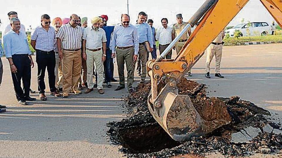 Substandard material,Chandigarh Airport Road,killer airport road