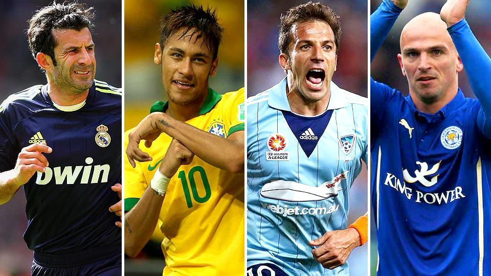(From left) Luis Figo (1989), Neymar (2009), Alessandro del Piero (1991) and Esteban Cambiasso (1995) -- global football superstars -- all made a name for themselves for the first time in previous FIFA Under-17 World Cup tournaments.