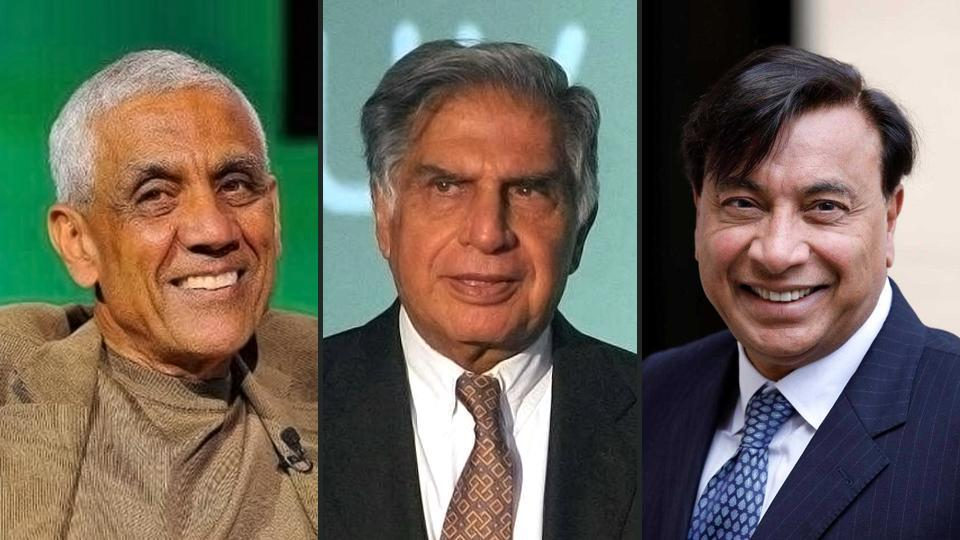 (Left to right) Vinod Khosla of Sun Microsystems, Ratan Tata of the Tata group, and Lakshmi Mittal of Arcelormittal have been named in a Forbes special list. (File photos)