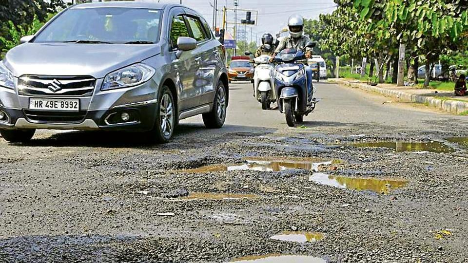 Panchkula in the pits,'deadly' stretch,road condition
