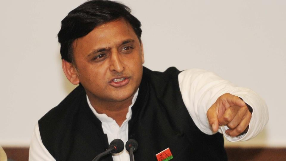 Former UP Chief Minister and the Samajwadi Party President Akhilesh Yadav during a press conference at his party office in Lucknow, India, on Wednesday, September 20, 2017.