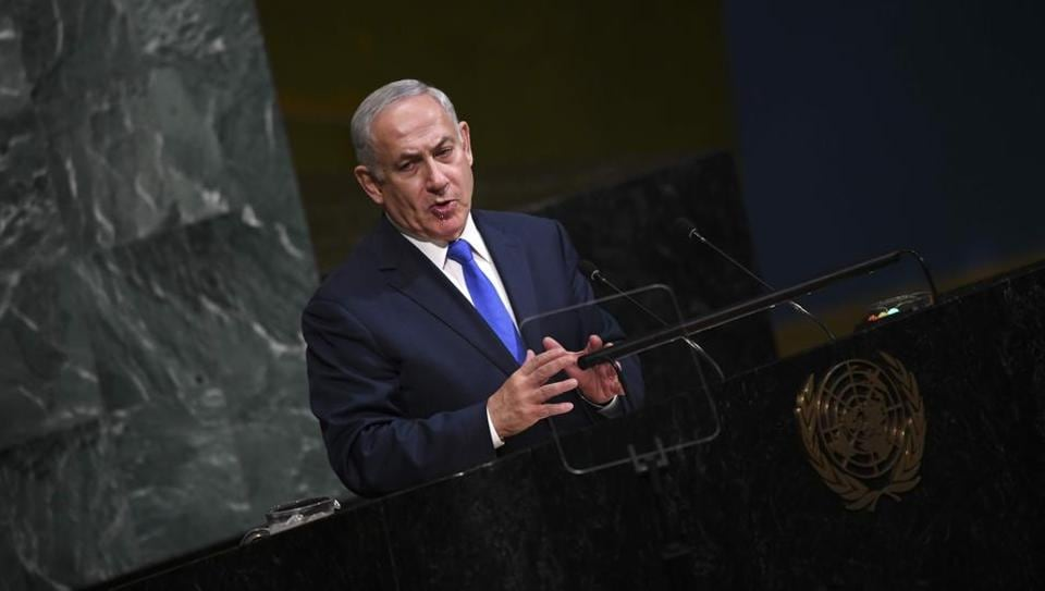 Benjamin Netanyahu, Prime Minister of Israel, addresses the 72nd session of the General Assembly at the United Nations in New York.