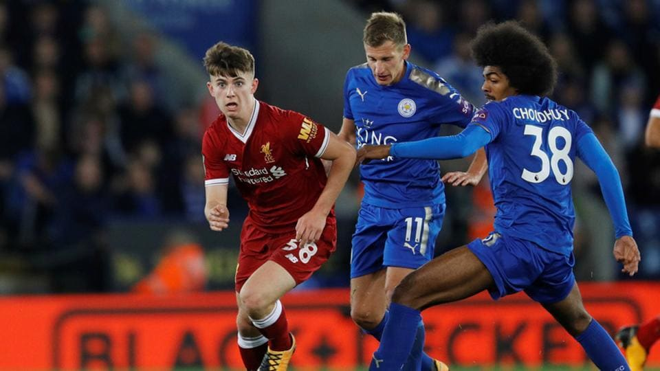 Leicester City beat Liverpool at the King Power Stadium in Leicester on Tuesday.