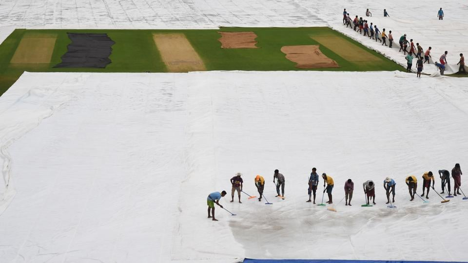 The Eden Gardens have an improved drainage facility but the rains in Kolkata have meant that the groundsman has not had enough time to prepare the wicket. (AFP)