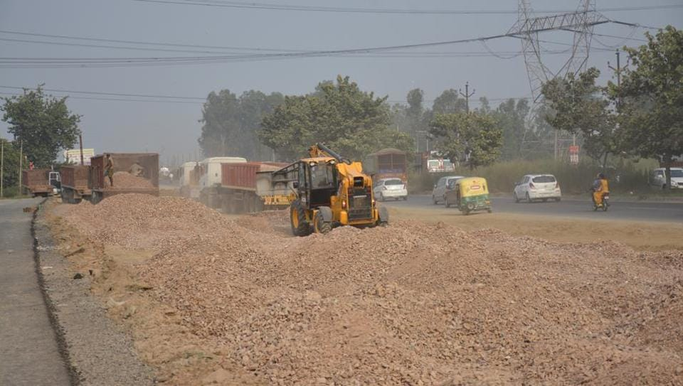 According to official estimates, nearly Rs402 crore is still yet to be distributed for land acquired in the EPE, Delhi-Meerut Expressway and the dedicated freight corridor projects.
