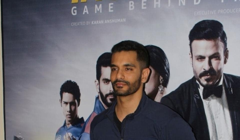 Angad Bedi during the success party of web series, Inside Edge.