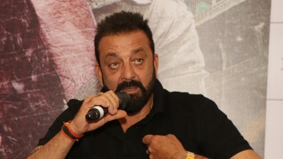 Sanjay Dutt during the promotion of Bhoomi in New Delhi.