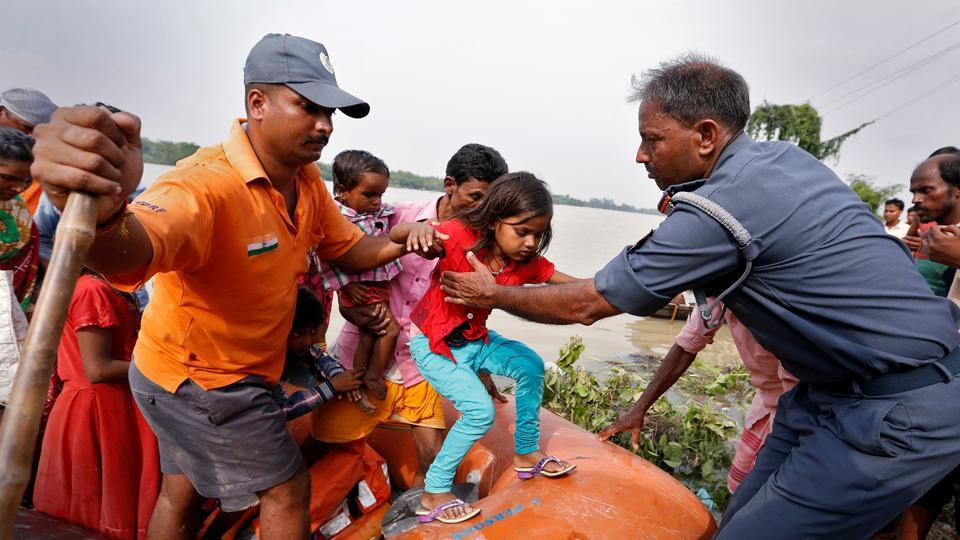 People being rescued from a flooded village in Bihar, August 22.  Meeting officers in some of the worst flood-affected areas of Bihar last week, one felt that there was an effort to downplay the impact of the floods and even undercount the number of deaths