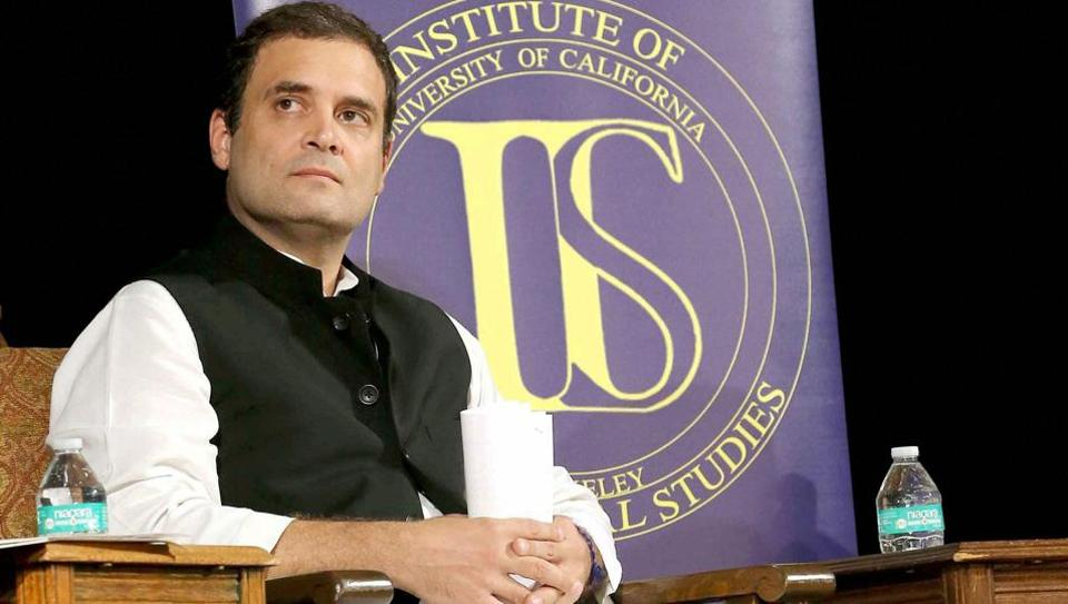 On a two-week tour of the United States, Rahul Gandhi has visited both the University of California, Berkeley and Princeton University.