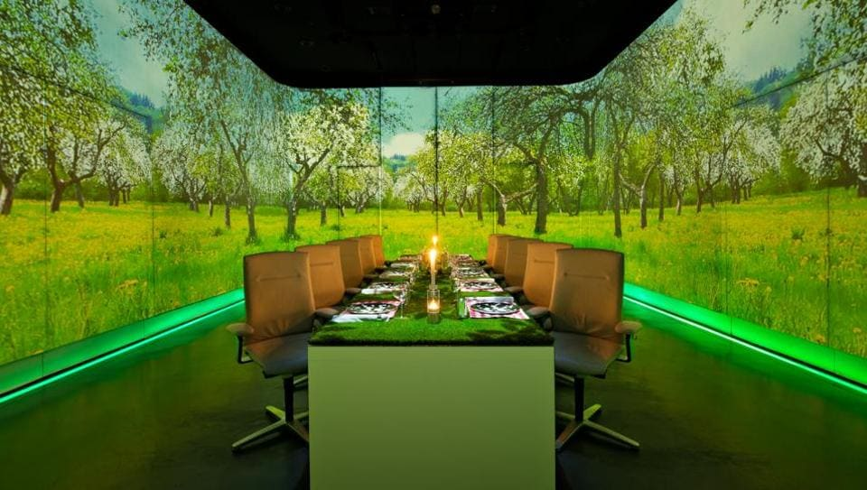 A meal at Ultraviolet is not just about the food - it's an immersive experience.