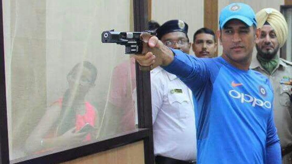Image result for MS Dhoni to Pick Up the Gun