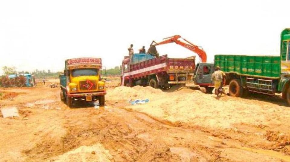 Police crackdown on illegal sand  trade has caused a severe paucity of the minor mineral in Bihar.