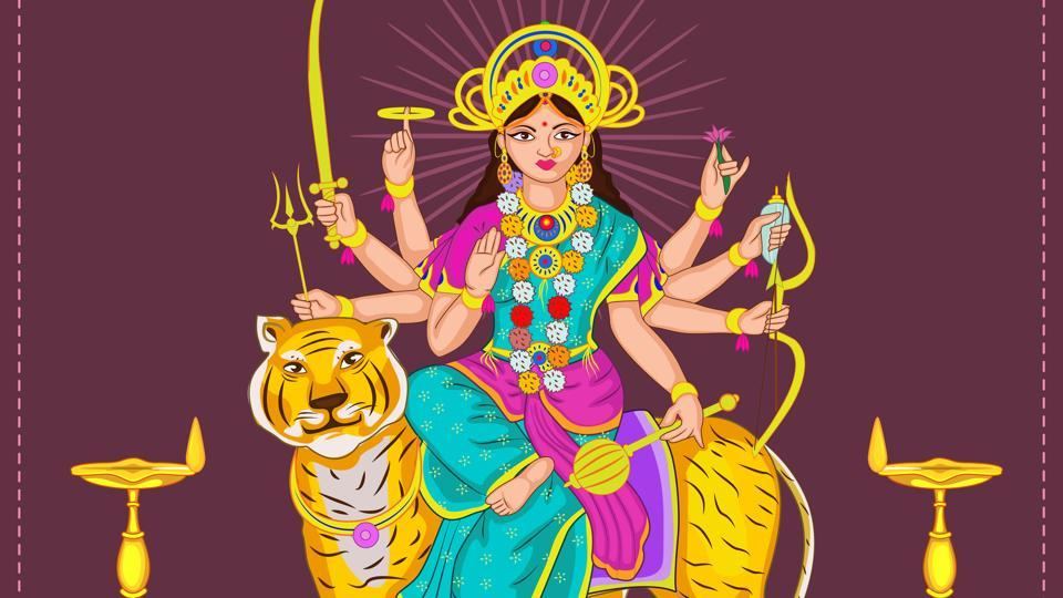 Goddess Brahmacharini is also known as Tapasvini or Parvati.