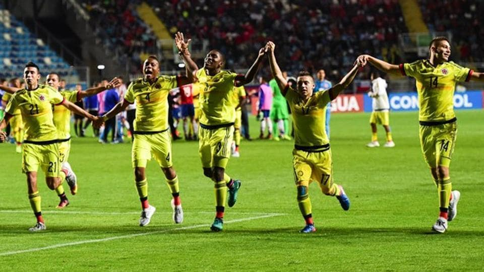 Colombia are placed in Group A with India, Ghana and USAat the FIFAU-17 World Cup.