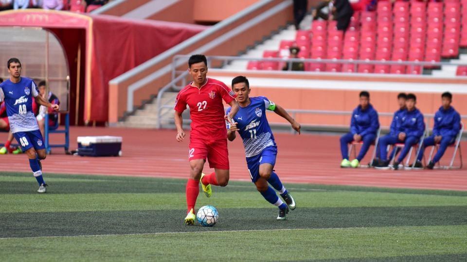 Sunil Chhetri-led Bengaluru FC defeated North Korean team 4.25 SC in AFC Cup interzonal semi-finals.