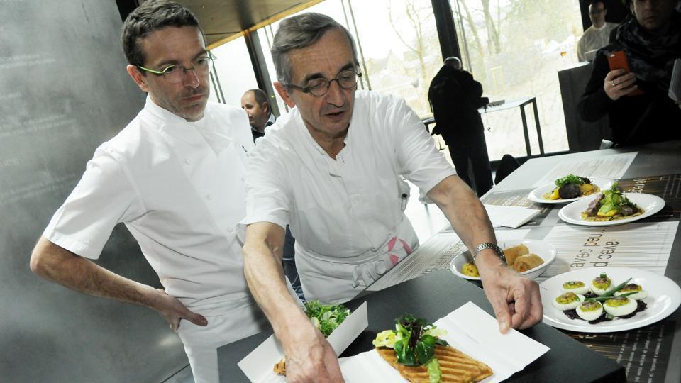 French chef Michel Bras and his son Sebastien.