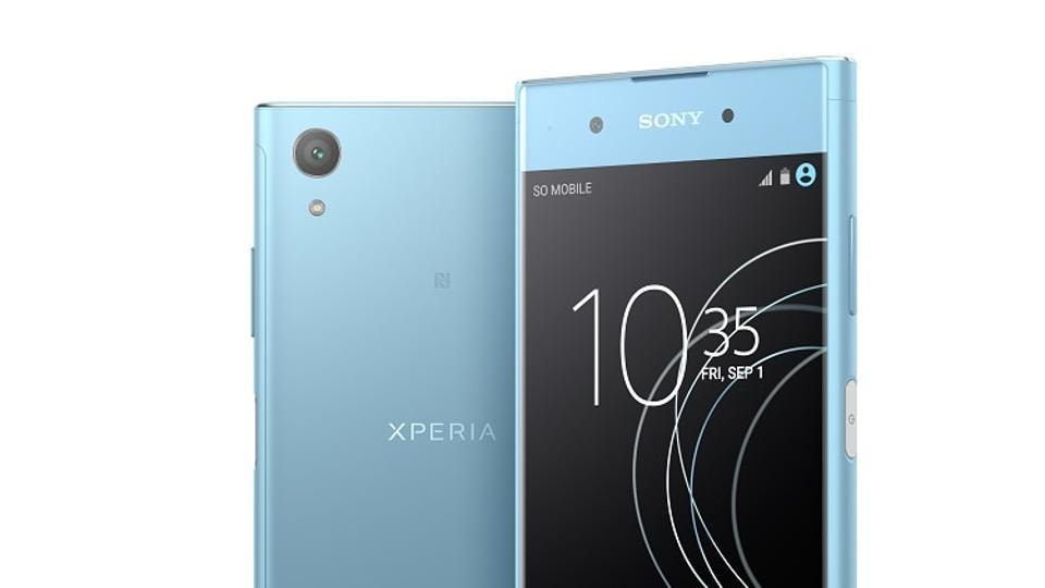 The Sony Xperia is available in black, blue and gold colour options.
