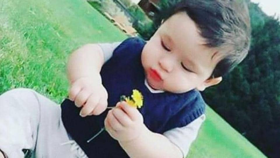 Who is cuter? Taimur Ali Khan or the flower?