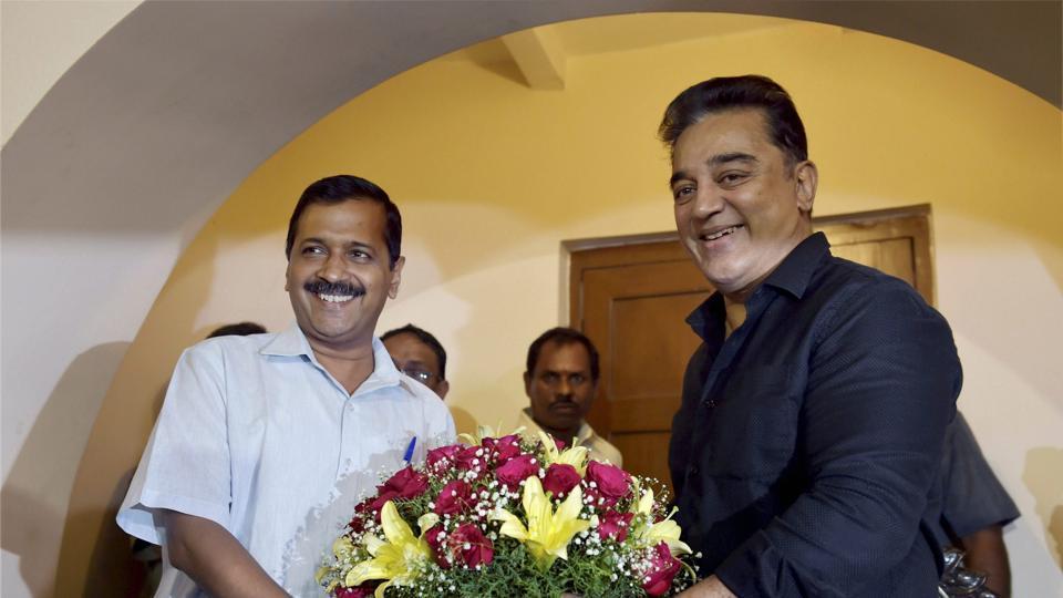 Arvind Kejriwal,Kamal Haasan,Chennai