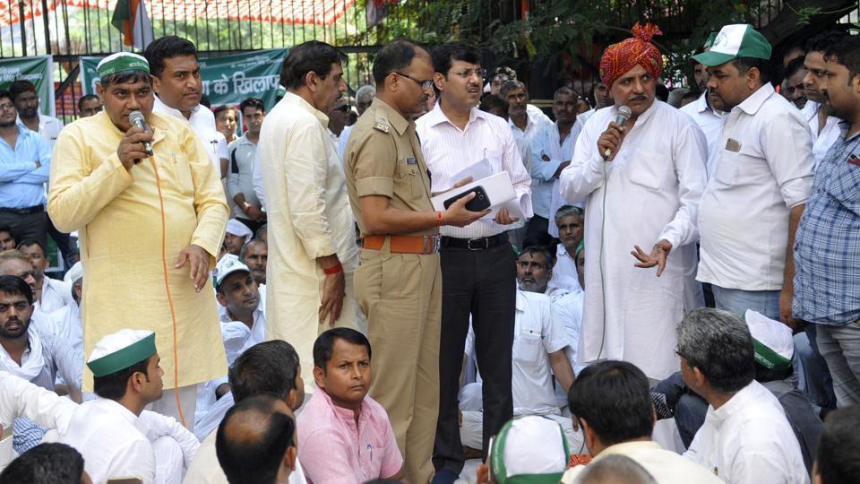 Bharatiya Kisan Union,Noida authority,Gejha village.