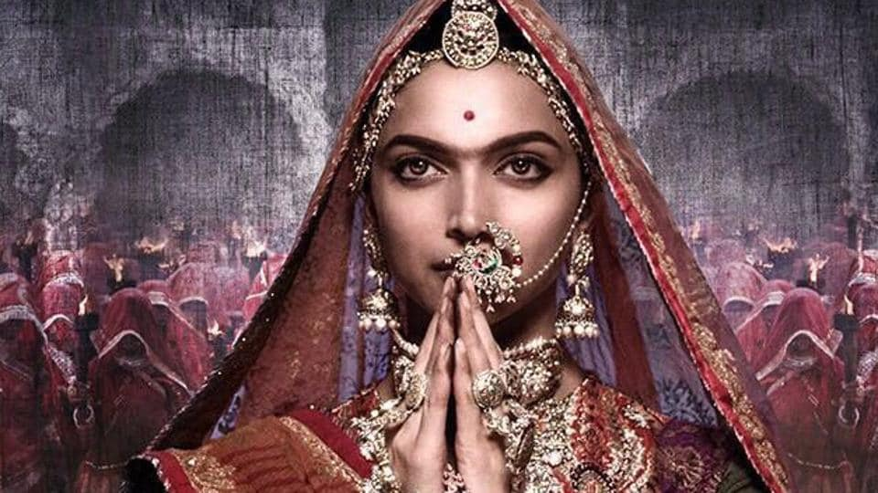 The first poster of Deepika Padukone as Padmavati in Sanjay Leela Bhansali's film.