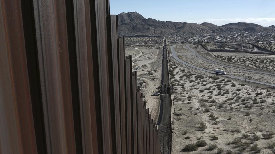 File photo shows the Mexico-US border fence, on the Mexican side, separating the towns of Anapra (Mexico) and Sunland Park (New Mexico).