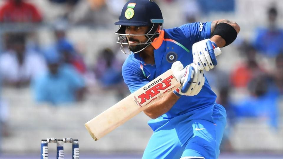 Indian cricket team captain Virat Kohli plays a shot during the second one day international (ODI) against Australia in Kolkata. Get full cricket score and live ball-by-ball updates of Thursday's India vs Australia, 2nd ODI, here.