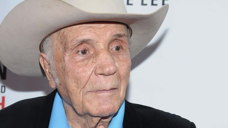 This file photo taken on August 2, 2012 shows former Professional boxer Jake LaMotta attending the Mike Tyson: Undisputed Truth