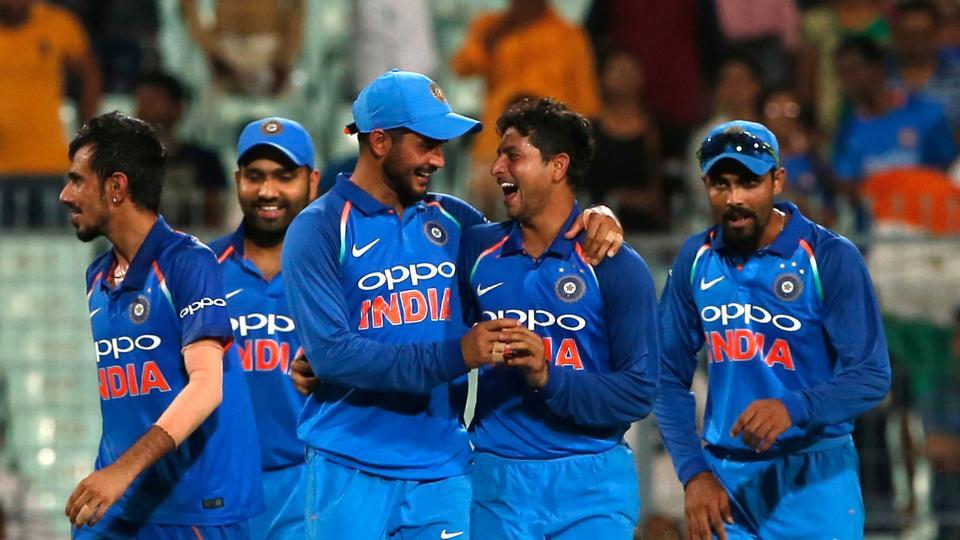 Kuldeep Yadav broke Australia's spirit as he picked up a hat-trick to put India on course for a big win. (BCCI)