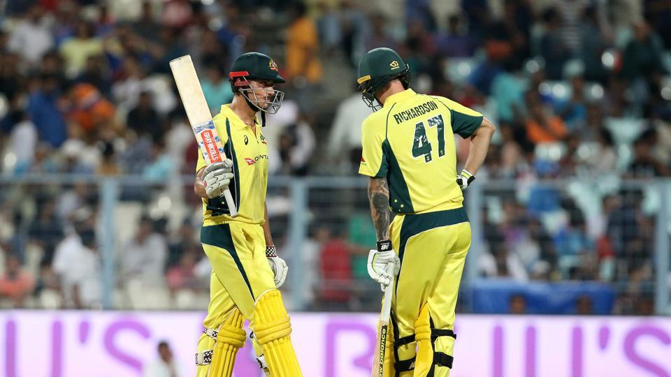 Marcus Stoinis fought for Australia with his maiden fifty but the task was becoming difficult. (BCCI)