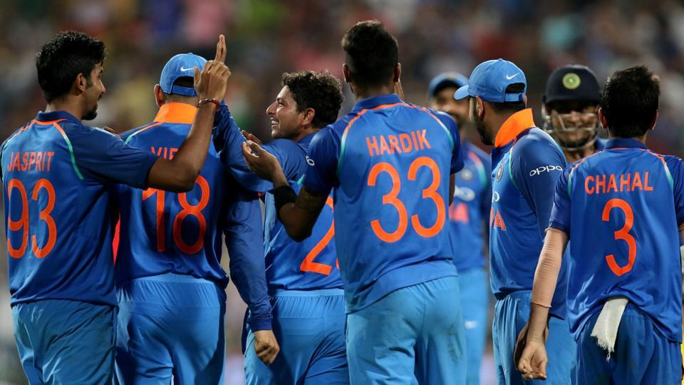 Kuldeep Yadav's hat-trick helped India beat Australia by 50 runs to take a 2-0 lead in the series. With this win, India have become the No.1 side in ODIs.  (BCCI)