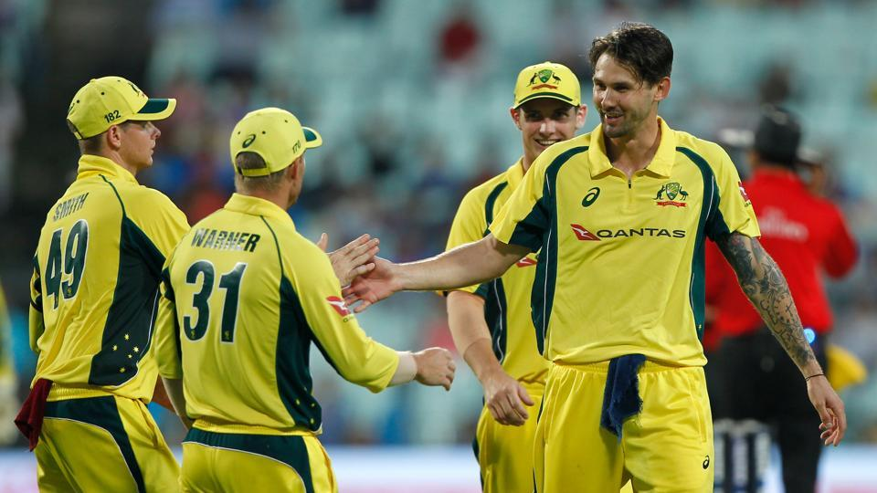 Kane Richardson picked up three wickets as India were bowled out for 252 at the end of 50 overs.  (BCCI)