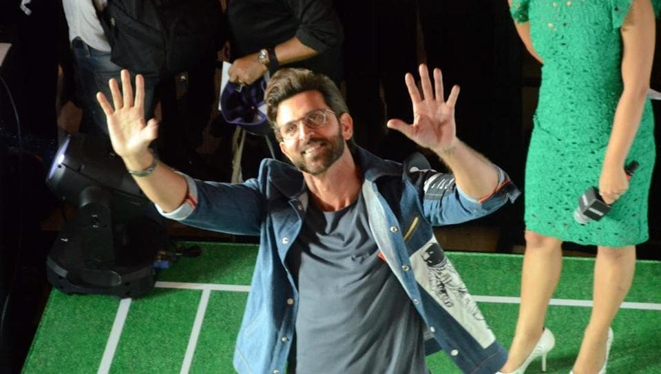 Hrithik Roshan during the launch of a product in Mumbai.