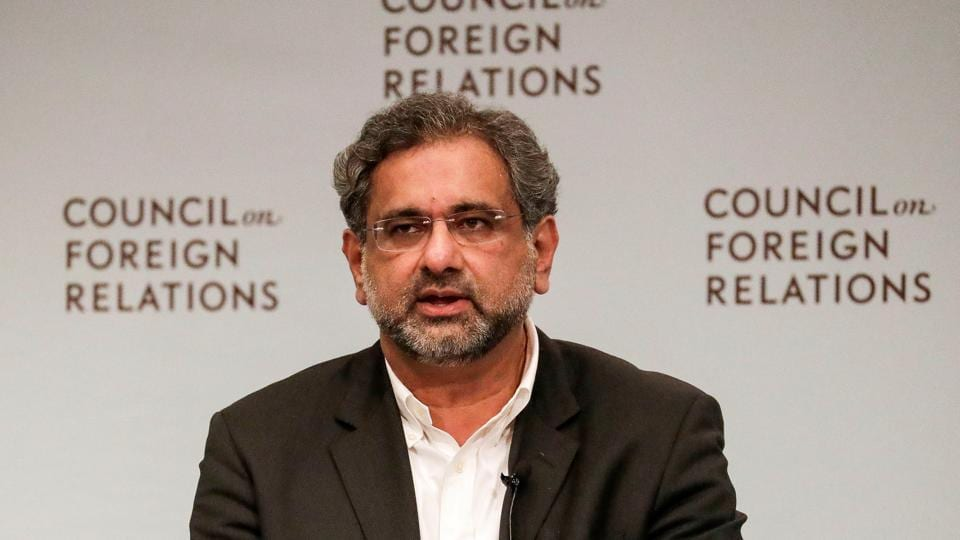 Pakistani Prime Minister Shahid Khaqan Abbasi answers a question during the panel discussion with the Council on Foreign Relations in Manhattan, New York, U.S., September 20, 2017.