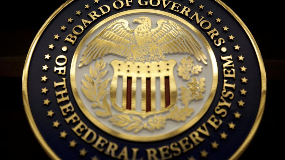 The seal for the Board of Governors of the Federal Reserve System is on display in Washington, DC, US on June 14, 2017.