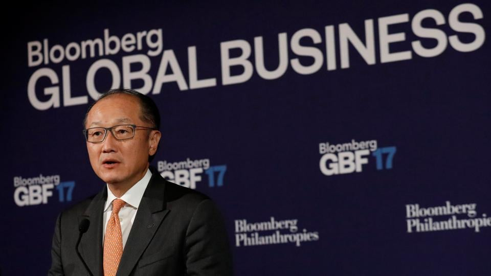 World Bank president Jim Yong Kim speaks at the Bloomberg Global Business Forum in New York City, US.