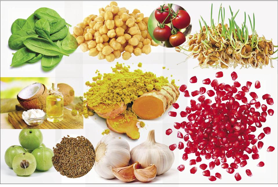 Eat everything from spinach to pomegranate and wheatgerm for a healthy heart