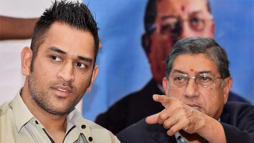 MSDhoni ran into former BCCI chairman and Chennai Super Kings owner N.Srinivasan.