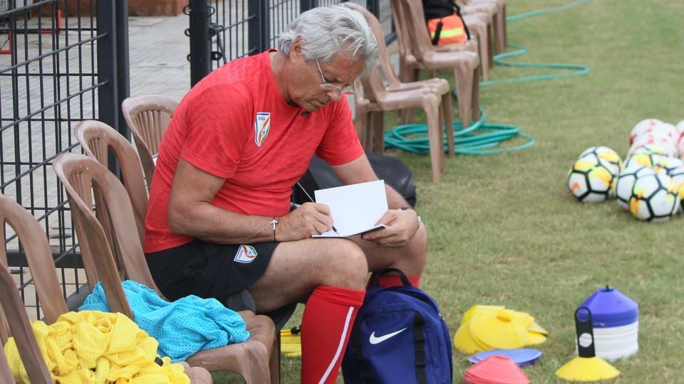 Luis Norton de Matos, 63, was appointed as coach after Nicolai Adam was sacked in February 2017. (AIFF)