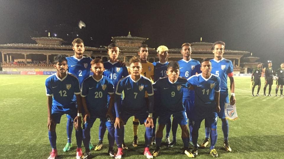 The Indian football team has three points from two matches at the 2017 SAFFU-18 Championship.