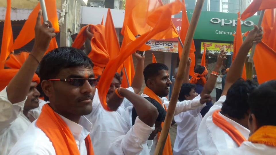 A suo motu case was registered against an office-bearer of an Hindu outfit on Friday for his alleged provocative speech and derogatory comments .