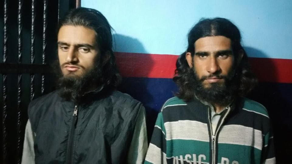 Militants Gajnafar and Arif who were arrested on Friday.