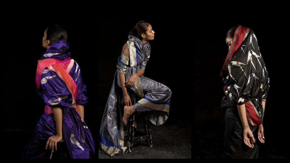 Tanira Sethi,Benarasi silk,Origami