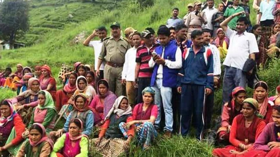 Villagers of Basarpatti area in Uttarakhand's Tehri district gathered to discuss setting up of community-based hydro power projects.