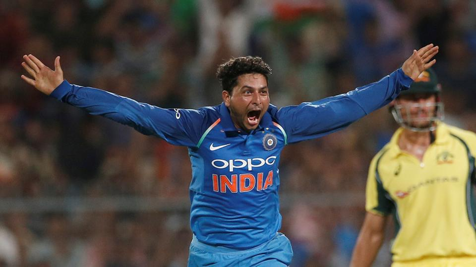 Kuldeep Yadav took a hat-trick to help India defeat Australia by 50 runs in the second ODI Kolkata and go 2-0 up in five-match series. (REUTERS)
