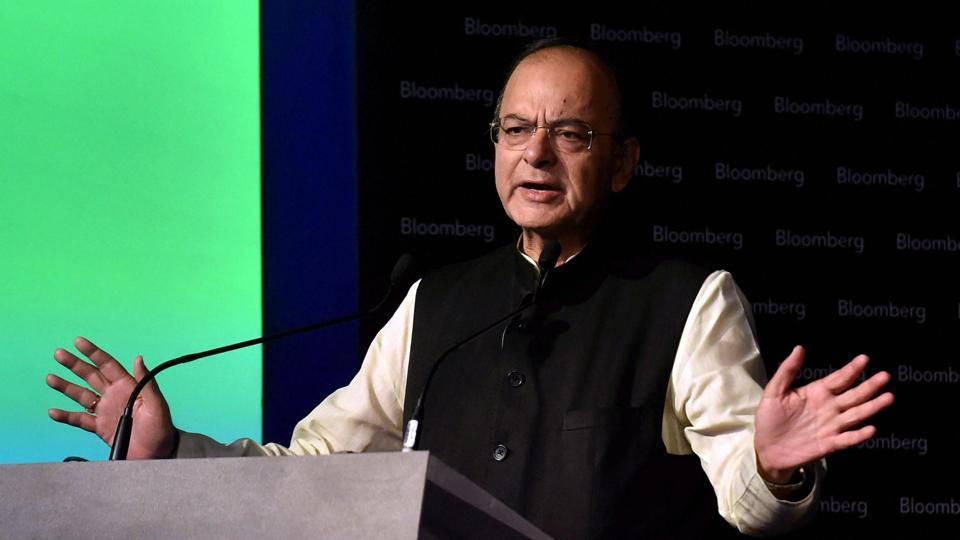 Union finance minister Arun Jaitley speaks at the India Economic Forum 2017, in Mumbai.